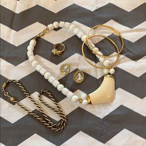 6 Piece Trifari Lot ring bracelet necklace